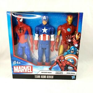 Marvel-Titan-Heroes-3-Pack-Set-Spider-Man-Captain-America-Iron-Man-Action-Figure