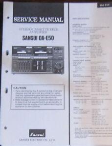 sansui da e50 audio system service repair workshop manual original rh ebay co uk