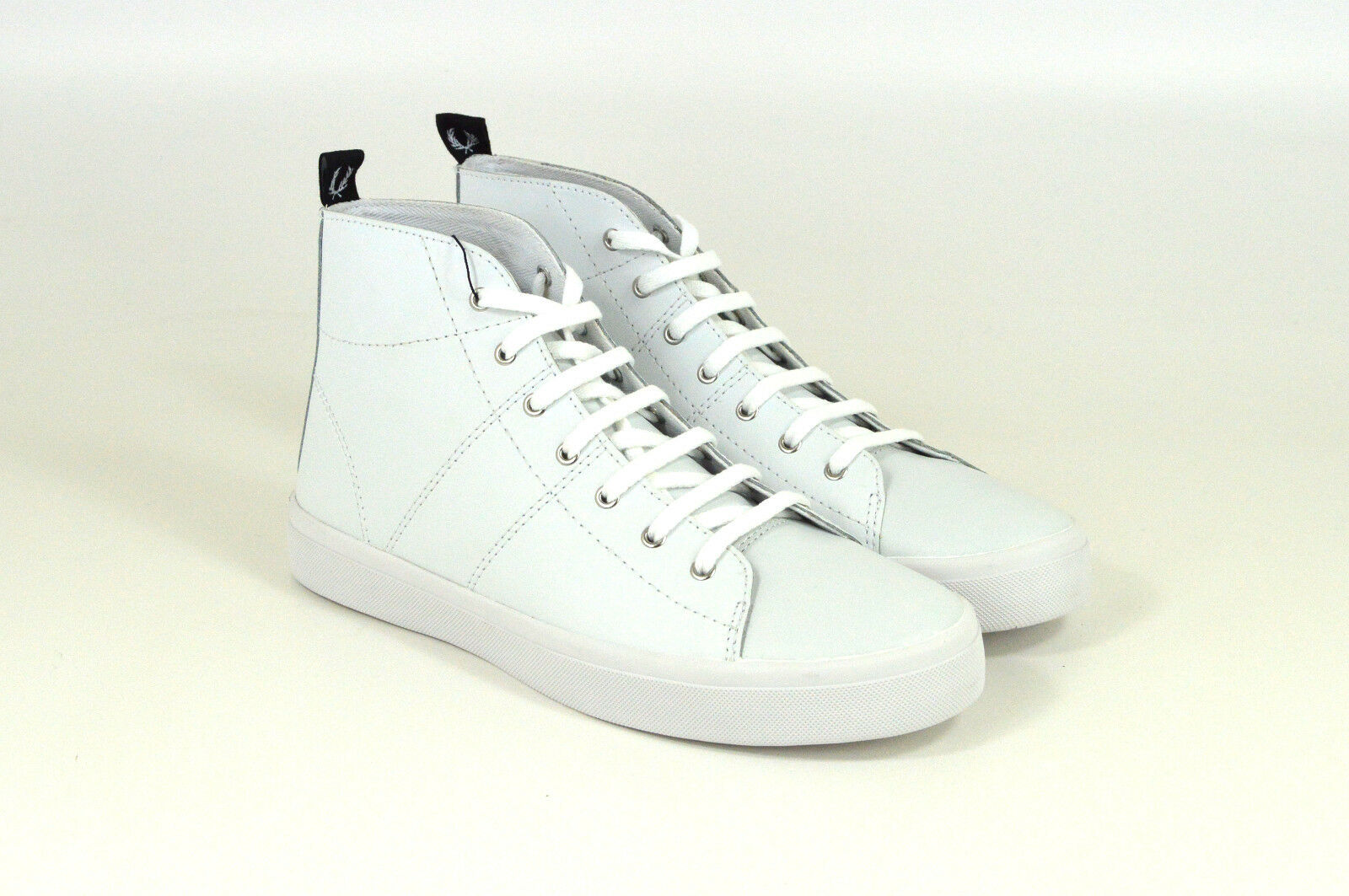 Fred Perry, Ellesmere MID W, LEATHER, mid-cut, white, Bianco, b9110 W, MID NUOVO 8a6a77