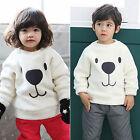 Toddler Kids Boys Girls Fleece Top Hoodie Sweatshirt Pullover Jumper Coat Jacket