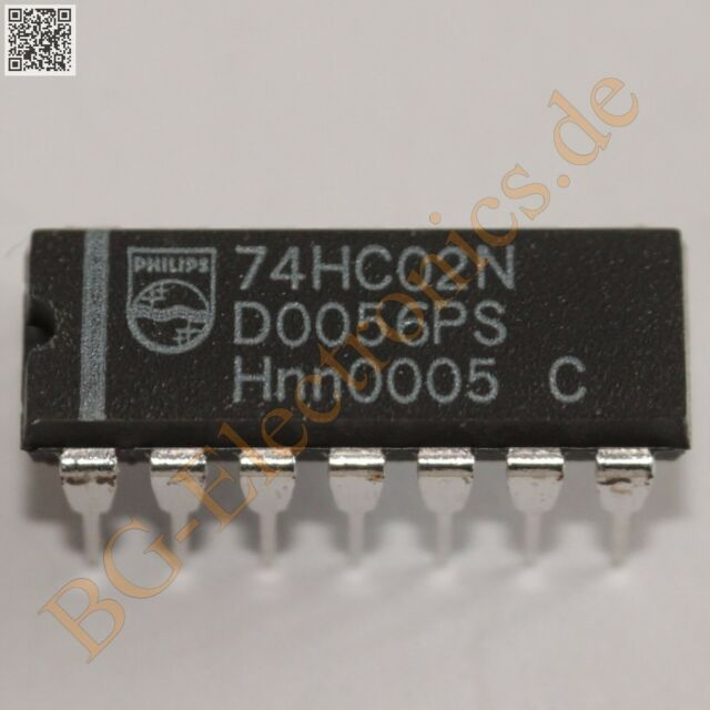 2 x 74HC02N Quad 2-Input NOR Gate Philips DIP-14 2pcs