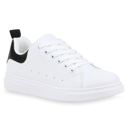 Damen Sneaker Low Turnschuhe Schnürer Bequeme Print Freizeitschuhe 898814 Top