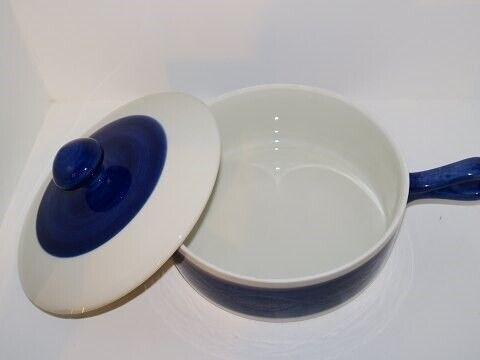 Porcelæn, Blå Koka  Ovnfast skål med hank og låg, Blå