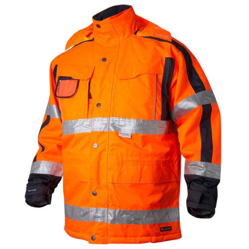 Swedish Waterproof Hi Vis Orange Insulated Coat Jacket High Visibility Top Swede