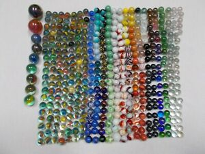 HUGE-Lot-of-454-5-lbs-Marbles-Vintage-amp-Modern-Types-Cats-Eye-Swirl-Shooters