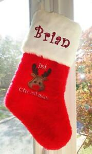 image is loading new red handmade personalized reindeer baby 039 s