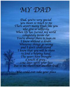 Das Bild Wird Geladen Personalisierte Dad Gedicht Geburtstag Weihnachten Vatertag Geschenk