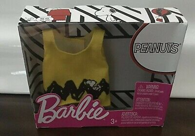 Peanuts Charlie Brown Yellow /&  Black Dress BARBIE FASHION PACK  NEW !!!!