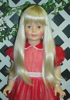 Doll Wig, Monique lorie Size 19 1/2 In Light Platinum For Patti Playpal