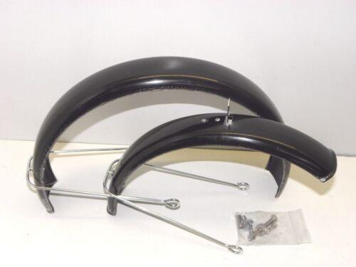 Fahrrad Schutzbleche Garnitur 12.1//2 Zoll schwarz mit Streben+Schrauben 25100