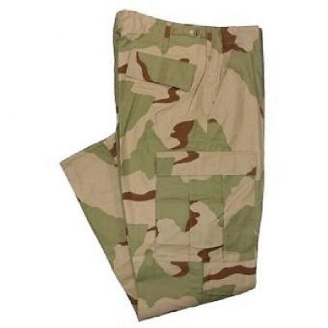 US Army DCU 3 color desert combat uniform pants trousers pantaloni LARGE SHORT