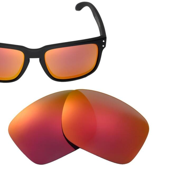 0d07a73d5b Walleva Replacement Lenses for Oakley Holbrook - 22 Options Available Fire  Red