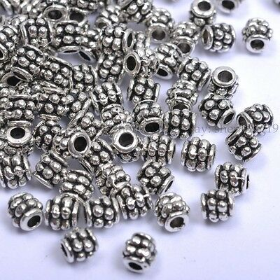 100pcs Tibetan Silver, Gold, Bronze,Cute Spacer Beads 4MM SH1028