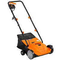 VonHaus 2 in 1 Electric Lawn Garden Dethatcher & Aerator rake