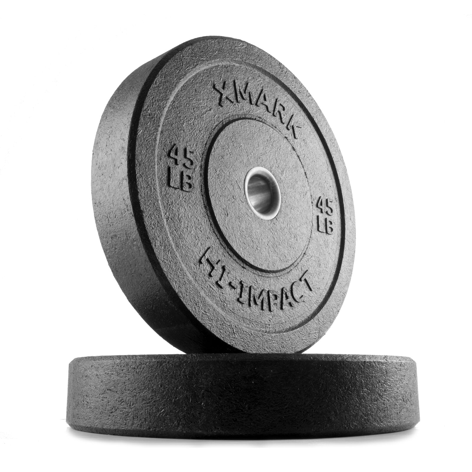 XMark HI-IMPACT  45 lb. Pair of Olympic Bumper Plate Weights XM-3391-45-P  order now lowest prices