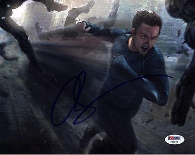On Building Desktop Frame - Quicksilver Avengers Aaron Taylorjohnson Autograph Replica Print