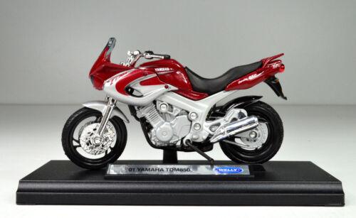 Yamaha TDM 850 rot Baujahr 2001 Maßstab 1:18 Motorrad Modell von Welly