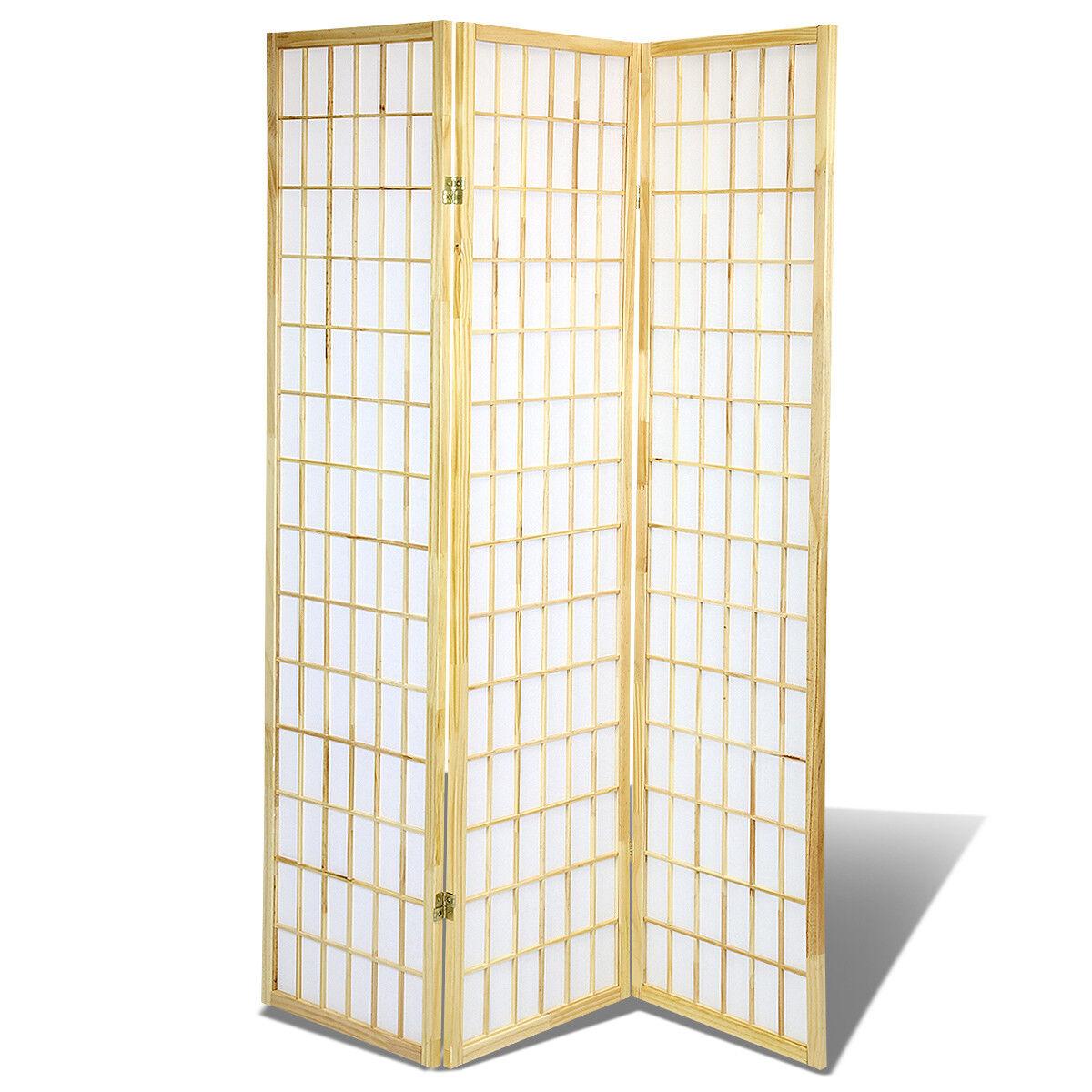 3 /& 4 Panel Japanese Oriental Room Divider Hardwood Shoji Screen Privacy Wall