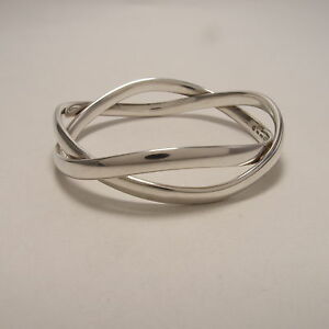89338994adb Image is loading Georg-Jensen-Double-Bangle-Bracelet-237B-Sterling-Silver-