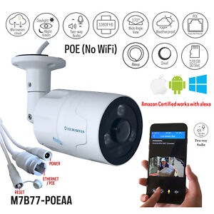 Microseven-1080P-30fps-PoE-Outdoor-IP-Camera-2-Two-Way-Audio-128GB-SD-Slot-Alexa