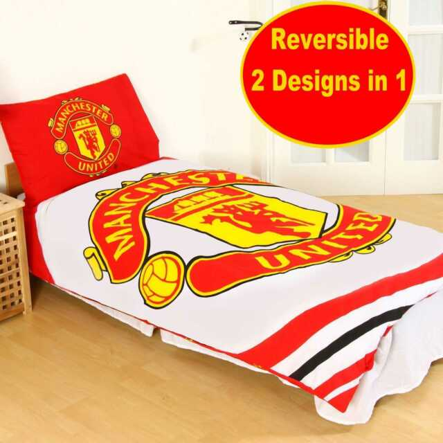 Manchester United Fc Single And Double Duvet Cover Sets Bedroom Bedding For Sale Online Ebay