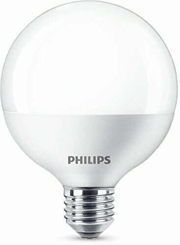 Philips LED Globe G93 E27 Edison Screw Light Bulb, Frosted, 9.5 W 60 W - Warm