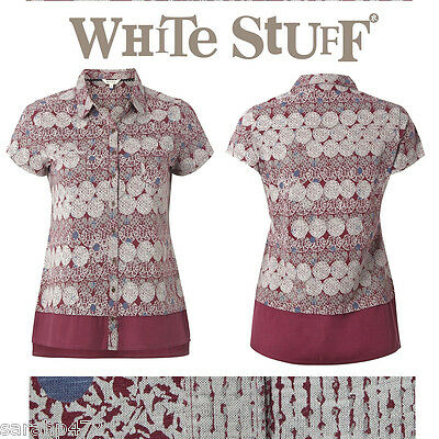 WHITE STUFF CRANBERRY PRINTED SUMMER TOP SHIRT NEW SIZE 10 12 14 16 18 20