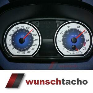 """Tachoscheibe für Tacho BMW 1er E81 E82 E87 E88 """"Blaue Nova"""" 310 Km/h"""