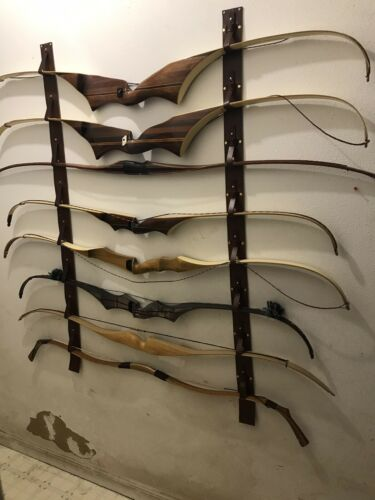 Leather Bow Rack For Traditional Recurves Self Bows And Longbows