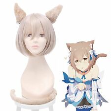 Starting Life in Another World Felix Argyle + Cat Ear Cosplay Full Wig USA Ship