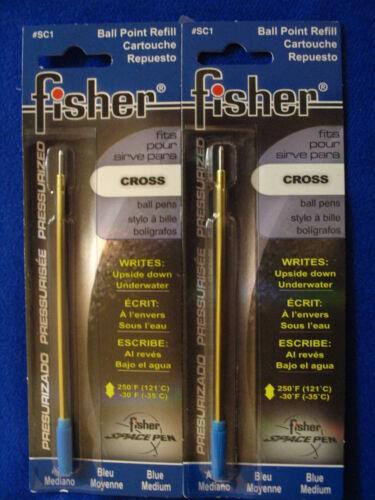 Blue Ink Refills SC1 Pressurized Cartridge for Cross M Fisher Space Pen