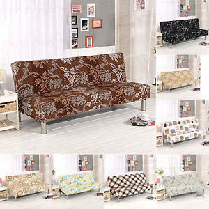 Image Is Loading 11styles Stretch Folding Armless Sofa Cover Furniture Seater