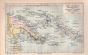 Karte-der-Kolonien-in-Neu-Guinea-Bismarck-Archipel-Lithographie-um-1895