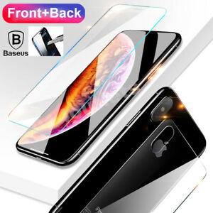 wholesale dealer 327f9 e1a3d Details about Baseus 9H iPhone XS Max XR Front Back 3D Touch Tempered Glass  Screen Protector