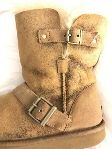 Us7 Classic Distressed Boots Australia Brown Ugg Dylyn 1001202 Chestnut rdxBQCoWe