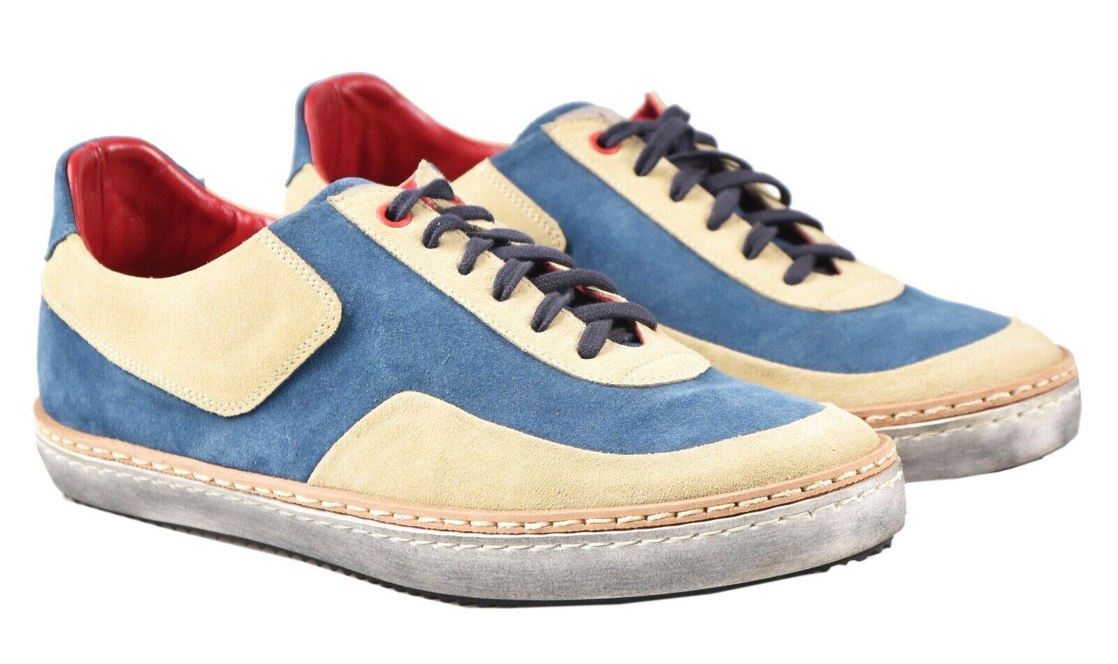 NEW KITON scarpe scarpe da ginnastica 100% LEATHER SZ 7 US 40 EU 19O78