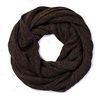 MITOS-Brauner Loop Schal braun Damen Schlauchschal, Rundhals Schal, Alpaka Wolle