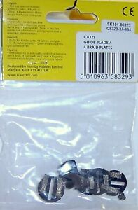 SCALEXTRIC C8329 4-ROUND PICK UP GUIDE W/ BRAID - 1/32 SLOT CAR PARTS