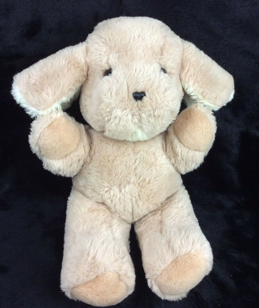 GUND musical Puppy Dog Light Braun Tan Turn Key Plush Stuffed Animal 14