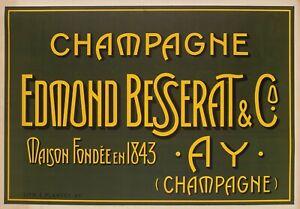 Original-Poster-Champagne-Besserat-de-Bellefon-Cuvee-des-Moines-Ay-1910