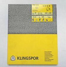 Ps 33 180 Grit 230 X 280 Sheet 50 Sheets Klingspor 147853