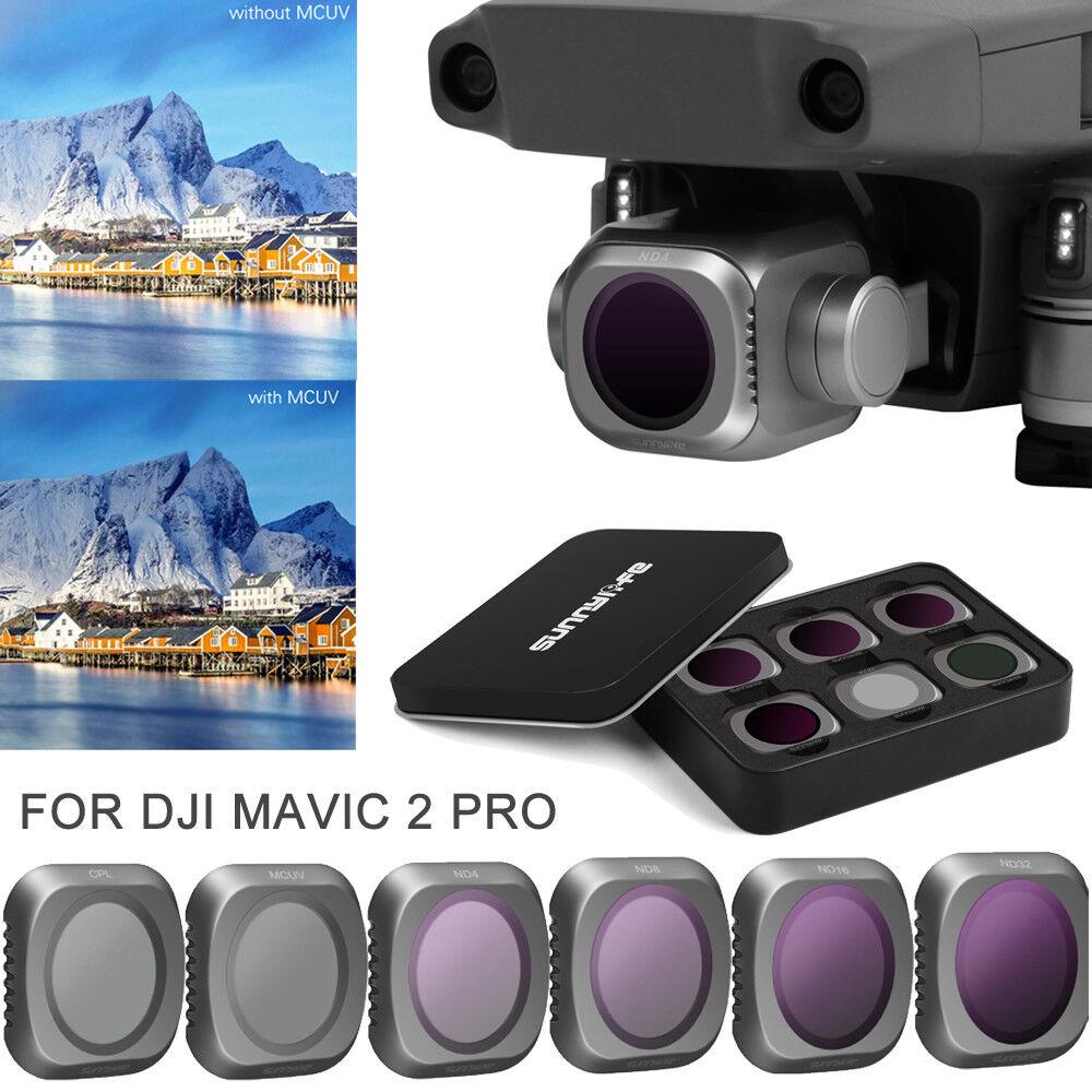 Optical Frame Camera Lens Filter Set MCUV CPL ND4 8 16 32Kit For DJI Mavic 2 PRO