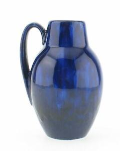Scheurich-414-16-70s-Keramik-Vase-Fat-Lava-blau-wgp-ceramic-space-age-Laufglasur