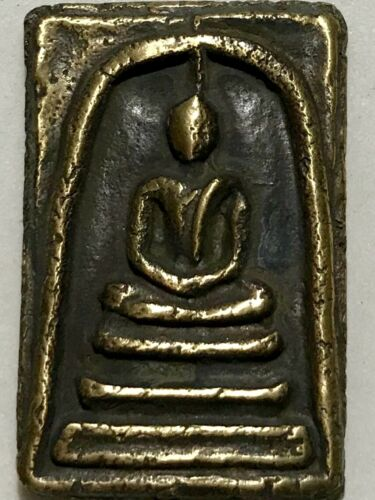 PHRA SOMDEJ LP RARE OLD THAI BUDDHA AMULET PENDANT MAGIC ANCIENT IDOL#206