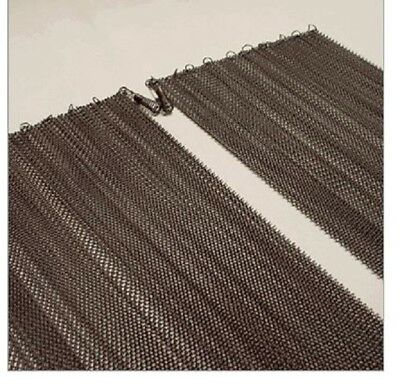 """21/"""" High  x 24/"""" Wide Cascade Fireplace Replacement Wire Mesh Curtain Screens 2"""
