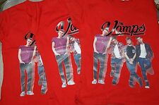 GIRLS THE VAMPS RED T SHIRT WITH BAND PRINT SUIT 5-6 YEARS BRAND NEW WITHOUT TAG