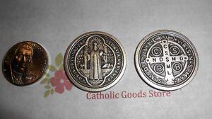 SAN-BENITO-Medalla-Saint-St-Benedict-Cross-Pocket-Coin