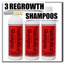 3 NUTRIFOLICA REAL HAIR REGROWTH SHAMPOO growth natural stop loss sulfate free