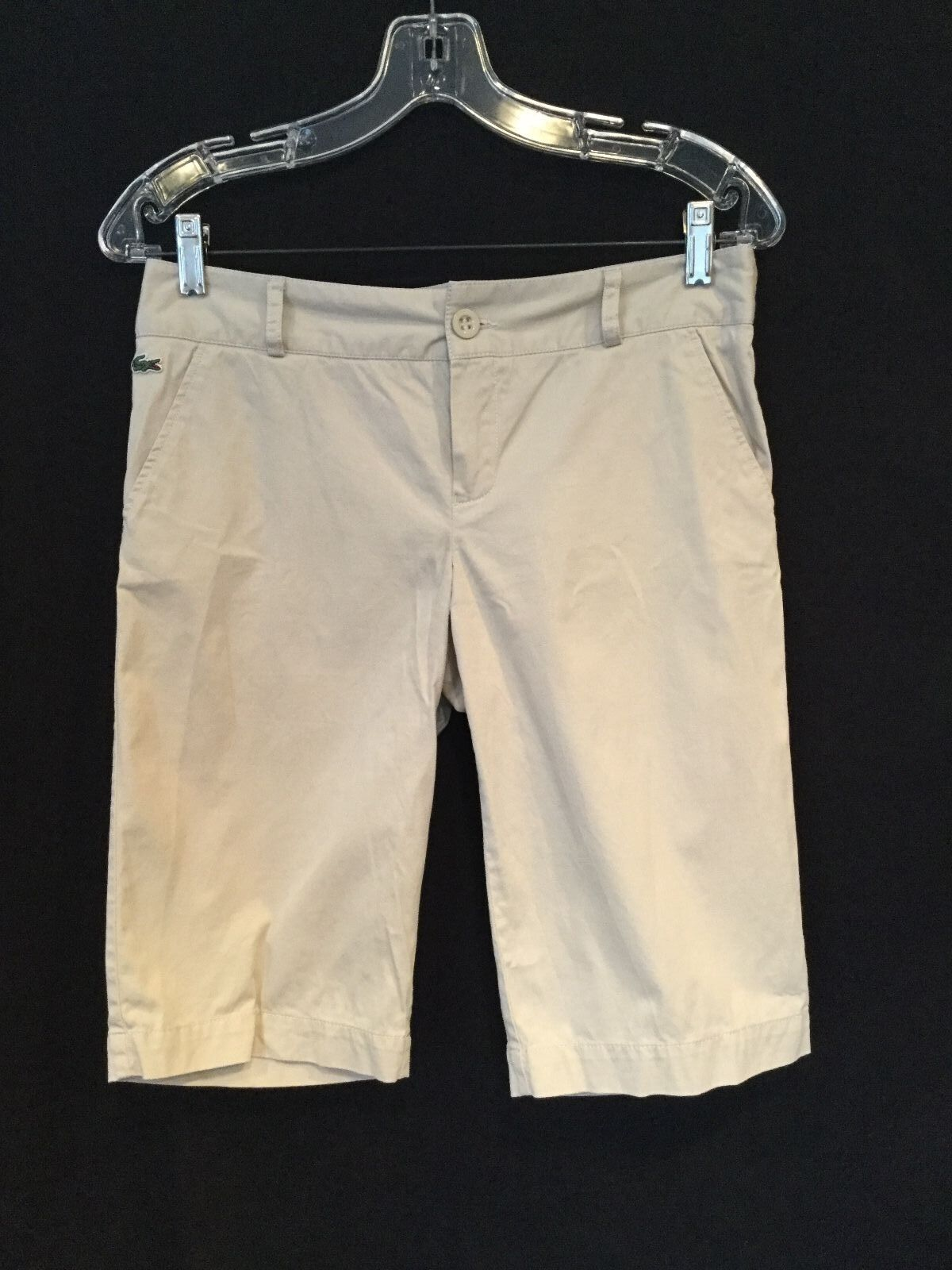 Lacoste - Women's Walking Shorts - Toasted Oat Beige - Size 38 - Great Condition