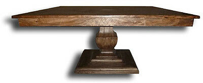 Philippe Carved Dining Table With Solid Wood Construction In Rustic Pecan